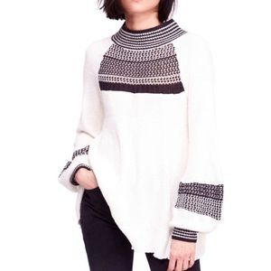 Free People Snow Day Balloon Sleeve Sweater